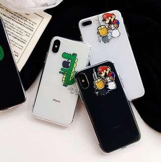 clear mario phone case (soft tpu)