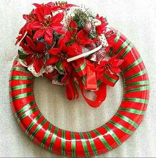 Large (~47 cm Diameter) Holly Wreath For Sale