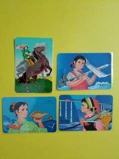 70年代年曆卡