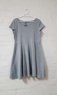 BNWT Grey Ribbed Skater Dress
