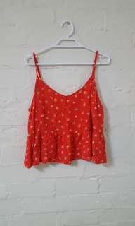 Cropped Cami Bright Pattern