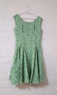Green Floral Semi Formal Dress