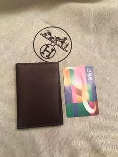 $3000 {Friend-D series 系列} [💯%Authentic & 100%New 正品全新]  HERMES Dark Brown Leather Card Holder /愛馬仕 深啡色真皮卡片套