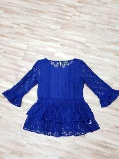 Topshop blue lace