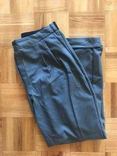 zara grey cigarette trousers