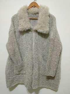 二手灰色毛外套