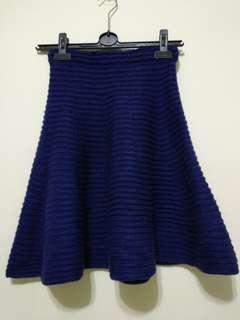 全新藍色毛裙