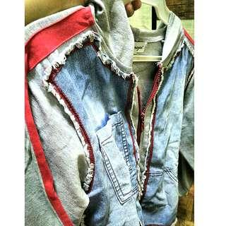 Urban Decay Style Denim Hoodie Zipper Jacket