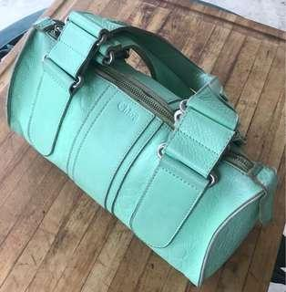 Chloe Handbag Leather Mint Green Authentic