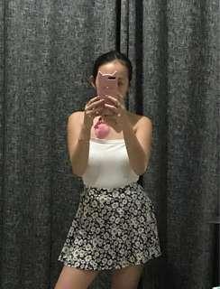 F21 Floral Skater Skirt