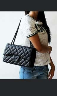 PREORDER chanel caviar classic jumbo medium flap handbag* waiting time 2-3 days after payment is made*pm to order