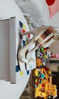 Tyca White Strappy Heels