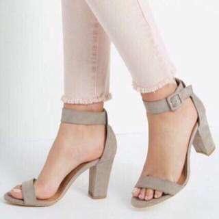 Liliw suede block heels