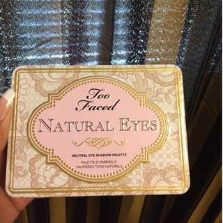 BNIB Too Faced Natural Eyes Palette