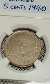 State of North Borneo. 1940 5 cent