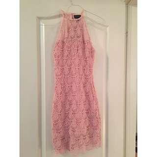 Pretty pink lace dress