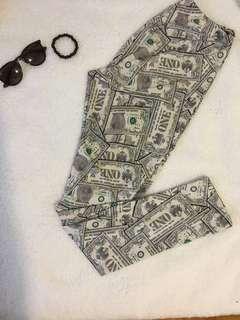 Dollar sign leggings