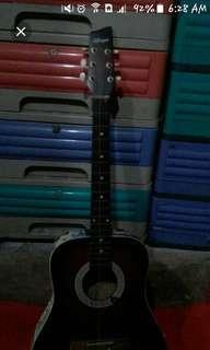 Allegro guitar with bts sticker