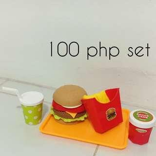 Burger and fries set