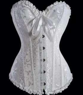 Boned lace back corset