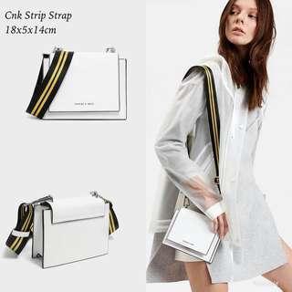 Original Charles & Keith Strip Strap Sling Bag