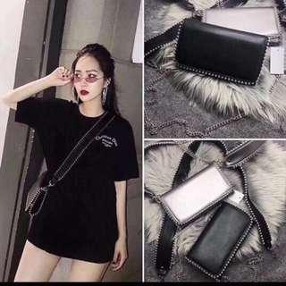 SALE! Original Zara Crossbody Double Strap Studded Bag