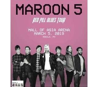 Maroon 5 Red Pills Blues Tour (4 Gen Ad Seated Together)