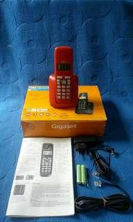 (Rare) 1 set Red Siemens Gigaset Cordless Phone (Old Stock)