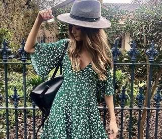 Minkpink roses are red ditty dress - Green - XXS AU6