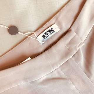 FREE SHIPPING BRAND NEW WITH TAGS Moschino light pink trousers slacks RRP $300
