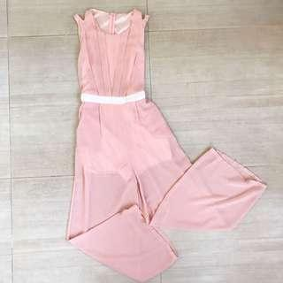 Formal Peach Jumpsuit