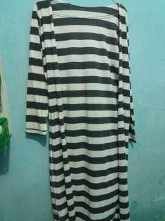 Longcardigan stripe besar