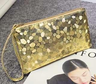 Free Mail  Glitter Shining Purse Wallet ( GOLD)