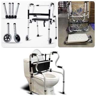 Below retail price -Shower Chair /Premium Walker + Seat + Wheels