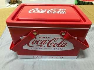 🚚 限量可口可樂Coca-Cola可提式收納鐵盒
