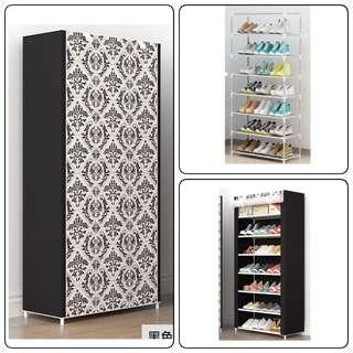 7-Tier Moisture Proof Shoe Rack / Cabinet + Cover