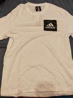Adidas 休閒白素T  全新 原價890