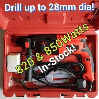 820 & 850w Rotary Hammer Drill. A Power Tool For Your Drilling Need