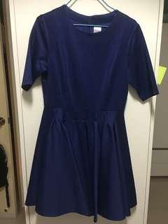 Navy blue working dress