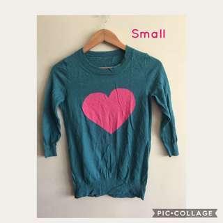 🔥Sale! Heart Print Top