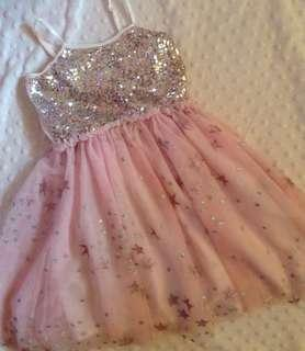 Cotton on little princess pink sparkly dress