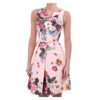 Ted Baker Deavon pink floral dress