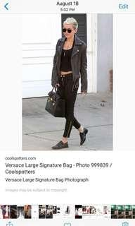 The hot celebrity bag , Versace signature bag