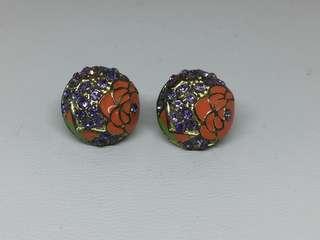 Giwang Purple Stone