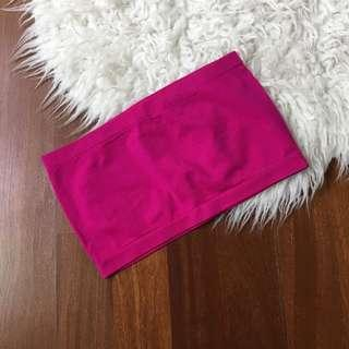 F21 pink tube top