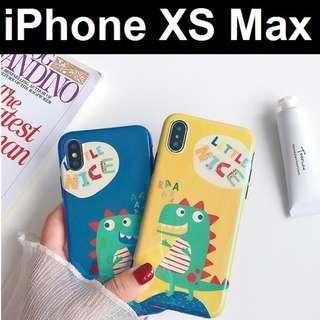 🚚 iPhone XS Max Cute Dino Anti Blue Ray Design Case Casing