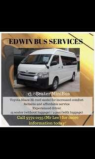 13 SEATER MINIBUS SERVICE