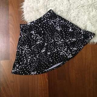 Cotton On Skater Skirt black and white