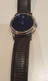Authentic Movado ladies watch/leather band