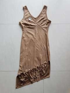 suede bodycon dress